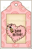 Chocolate Valentine Bear Tag - REF_T381