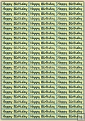 Happy Birthday Sentiments Sheet Download