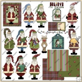 Jolly Ol Saint Nick ClipArt Graphic Collection 1