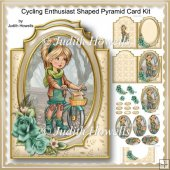 Cycling Enthusiast Shaped Pyramid Card Kit