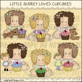 Little Audrey Love Cupcakes ClipArt Graphic Collection
