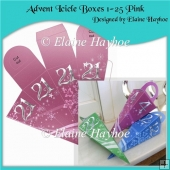 Advent Icicle Boxes 1 - 25 Pink