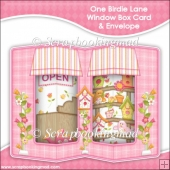 One Birdie Lane Double Window Box Card and Envelope