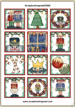 A nutcracker Christmas Topper Sheet PDF Download