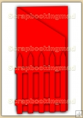 Tri Fold Garden Gate Card Template Overlay PDF Sheet