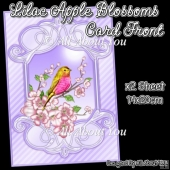 Lilac Apple Blossoms Card Front With Insert Panel