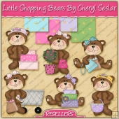 RESALE ART WORK - Little Shopping Bears Collection