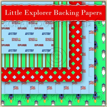 5 Little Explorer Backing Papers Download (C97)