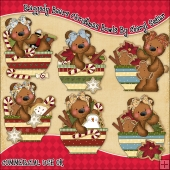 Raggedy Bears Christmas Bowls ClipArt Graphic Collection