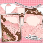 Affection Scalloped Pocket Card & Envelope Set