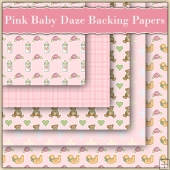 5 Pink Baby Daze Backing Papers Download (C86)