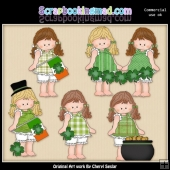 Barefoot Beth Irish Lass ClipArt Collection