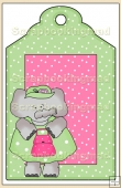 Born To Shop Gift Tag - REF_T626