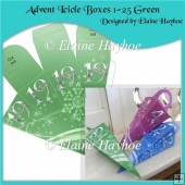 Advent Icicle Boxes 1 - 25 Green