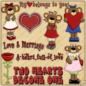 Love You Beary Much ClipArt Graphic Collection