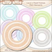 Lace N Pearls Frames or Mats
