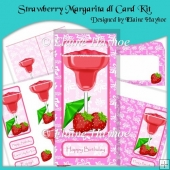Strawberry Margarita dl Card Kit