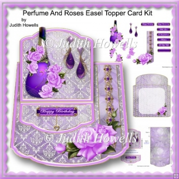 Perfume And Roses Easel Topper Card Kit