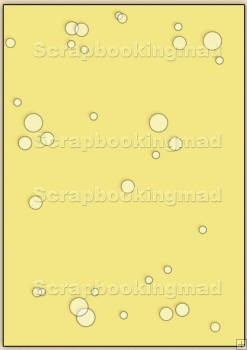 Backing Papers Single - Yellow Bubbles - REF_BP_57