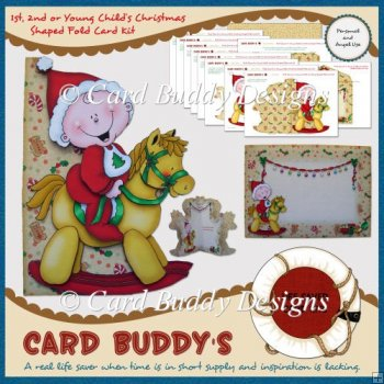 First, Second or Young Child�s Christmas Shaped Fold Card Kit
