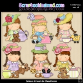 Agnus The Tea Party Hostess ClipArt Collection