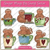 Ginger Mugs ClipArt Graphic Collection - REF - CS