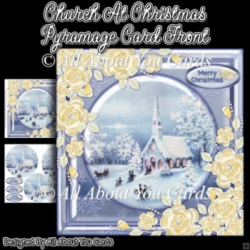 Church At Christmas Pyramage Card Front