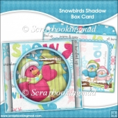 Snowbirds Shadow Box Card and Envelope