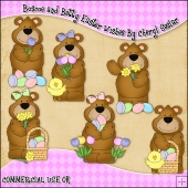 Boscoe and Betty Easter Wishes ClipArt Graphic Collection