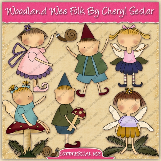 Woodland Wee Folk Graphic Collection - REF - CS - Click Image to Close