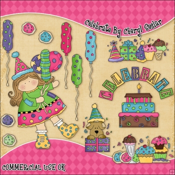 Celebrate ClipArt Graphic Collection