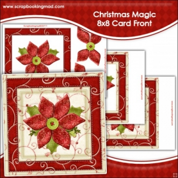 Christmas Magic Large 8x8 Card Front