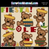 Cuddle Bears Fiesta ClipArt Collection