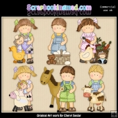 Maggie And Mikey On The Farm ClipArt Collection