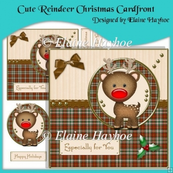 Cute Reindeer Christmas Cardfront