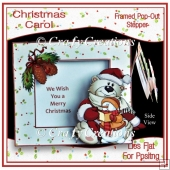 Christmas Carol - Framed Pop-Out Stepper