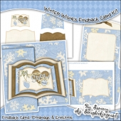 Winter Wishes Open Book Foldback Card & Envelope