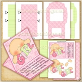 Miracle Baby Girl PDF Easel Card Download