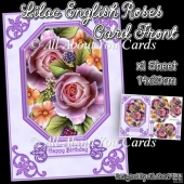Lilac English Roses Pyramage Card Front