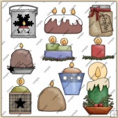 Candle ClipArt Graphic Collection