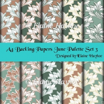 A4 Backing Papers June Palette Set 3