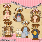 Hillbilly Bears Springtime ClipArt Graphic Collection