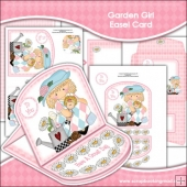 Garden Girl Easel Card Download