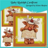Baby Rudolph Cardfront
