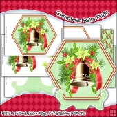 Christmas Bells Plate, Stand & Backing Paper