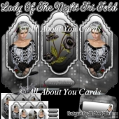 Lady Of The Night Tri Fold Card