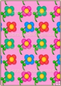 A4 Backing Papers Single - Pink Flowers - REF_BP_169
