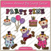 Clownin Around ClipArt Graphic Collection - REF - CS