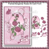 Framed Burgandy Roses A5 Card Front