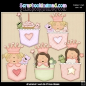 Princess Pockets Clipart Graphics Download